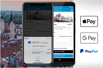 Innovative payment systems such as Apple Pay, Google Pay and PayPal now available for mobile shops